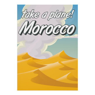 Morocco vintage travel poster