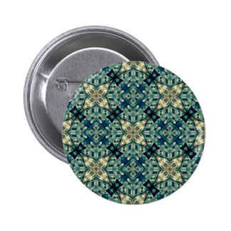 Moroccon inspired design 6 cm round badge