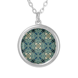Moroccon inspired design round pendant necklace