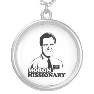 MORON MISSIONARY ROMNEY ROUND PENDANT NECKLACE
