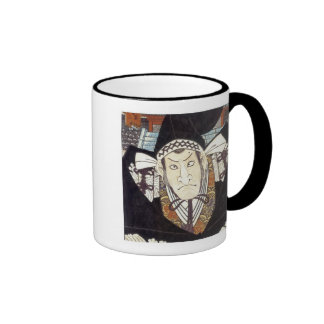 Moronao, Villian of Kabuki play Chusingura, Kum... Ringer Mug