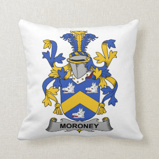 Moroney Family Crest Throw Pillow