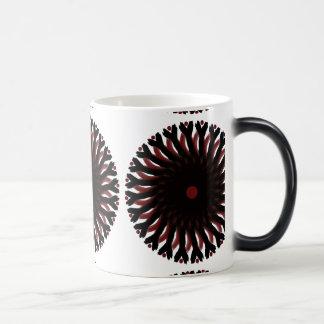 Morphing Mug RED/BLACK CIRCLE SUN