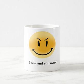 Morphing smile mug