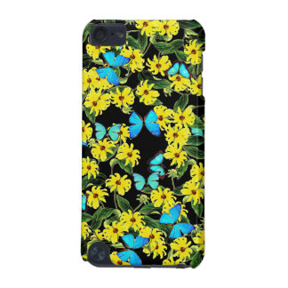 Morpho Butterfly Coneflower Flowers Device Case