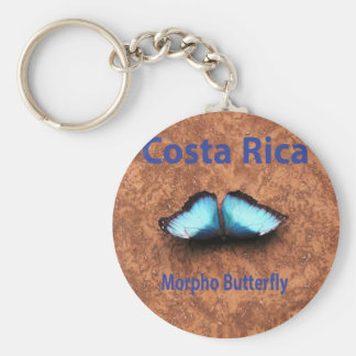 Morpho butterfly Costa Rica Basic Round Button Key Ring