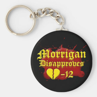 Morrigan Disapproves Basic Round Button Key Ring