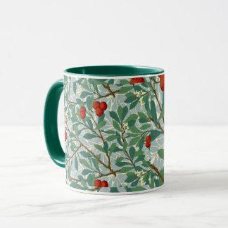 Morris -  Arbatus, berry red and turquoise, Mug