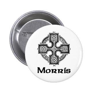 Morris Celtic Cross 6 Cm Round Badge