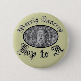 Morris Dancers Hop to It 6 Cm Round Badge