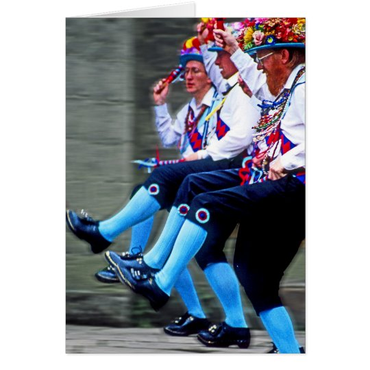 Morris Dancing, England (1) Card