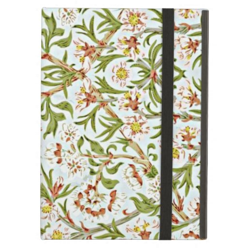 Morris - Delicate Floral Blossom Pattern iPad Folio Case