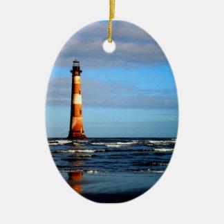Morris Island Lighthouse Folly Beach Christmas Ornament