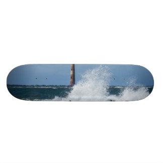 Morris Island Lighthouse Splash Custom Skate Board