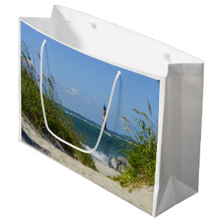 Morris Island Lighthouse Walkway Large Gift Bag