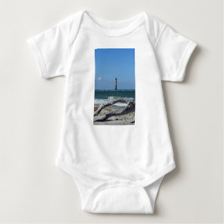 Morris Lighthouse And Tree Remains Baby Bodysuit