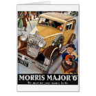 Morris Major 6 - Vintage British Auto Advert Card