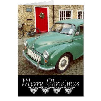Morris Minor Christmas Card