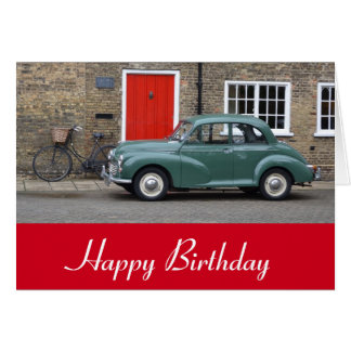 Morris Minor Classic Car Card