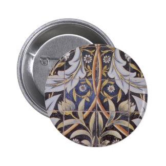 Morris tiles de Morgan 6 Cm Round Badge