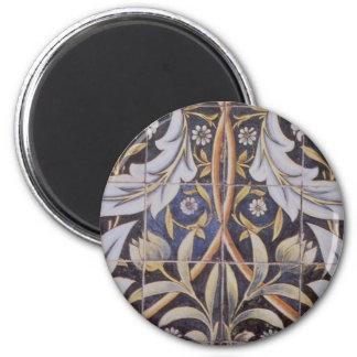 Morris tiles de Morgan 6 Cm Round Magnet