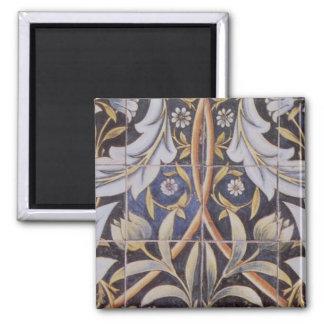Morris tiles de Morgan Square Magnet