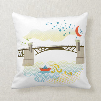 Morrison Bridge Portland Oregon Pillow