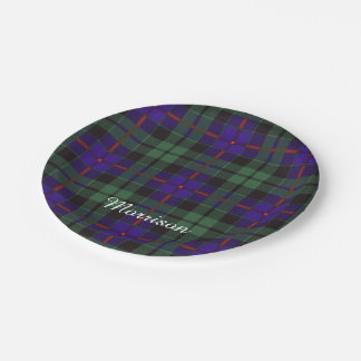 Morrison clan Plaid Scottish tartan 7 Inch Paper Plate