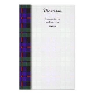 Morrison clan Plaid Scottish tartan 14 Cm X 21.5 Cm Flyer