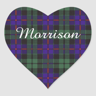 Morrison clan Plaid Scottish tartan Heart Sticker