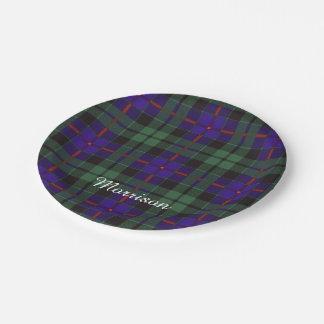 Morrison clan Plaid Scottish tartan Paper Plate