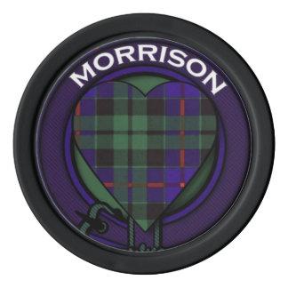 Morrison clan Plaid Scottish tartan Poker Chips