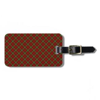 Morrison Clan Tartan Scottish Designed Print Luggage Tag
