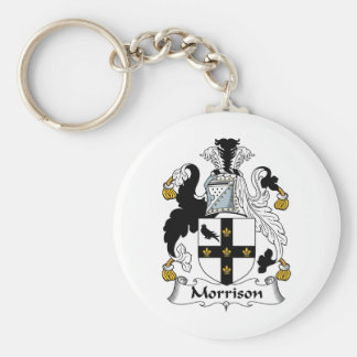 Morrison Family Crest Basic Round Button Key Ring