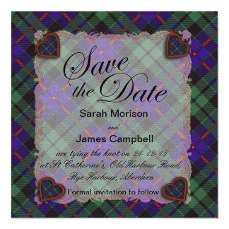 Morrison Scottish clan tartan - Plaid Card