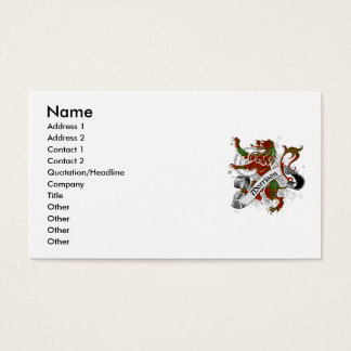 Morrison Tartan Lion Business Card