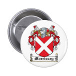 Morrissey Family Crest Pinback Button