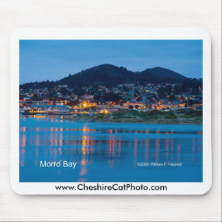 Morro Bay After Dark California Products Mouse Pad