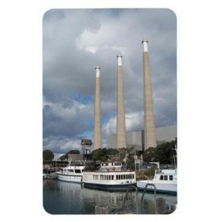 Morro Bay Fishing Boats and Smokestacks Magnets