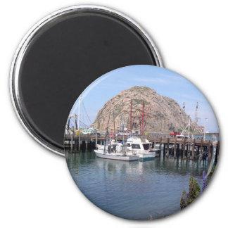 Morro Bay Memories for Your Fridge Door 6 Cm Round Magnet