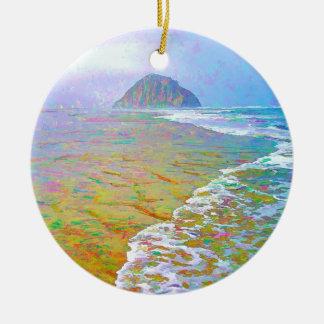 Morro Bay Painting Christmas Ornament