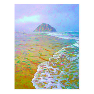 Morro Bay Painting Postcard