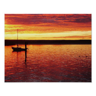 Morro Bay sunset poster