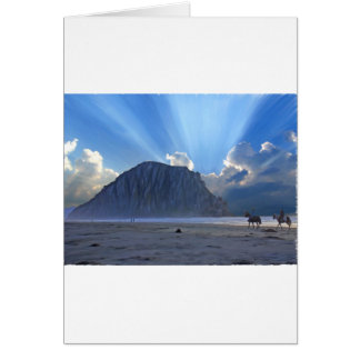 Morro Rock and Horses Greeting Card