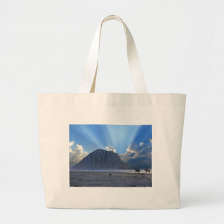 Morro Rock and Horses Canvas Bags