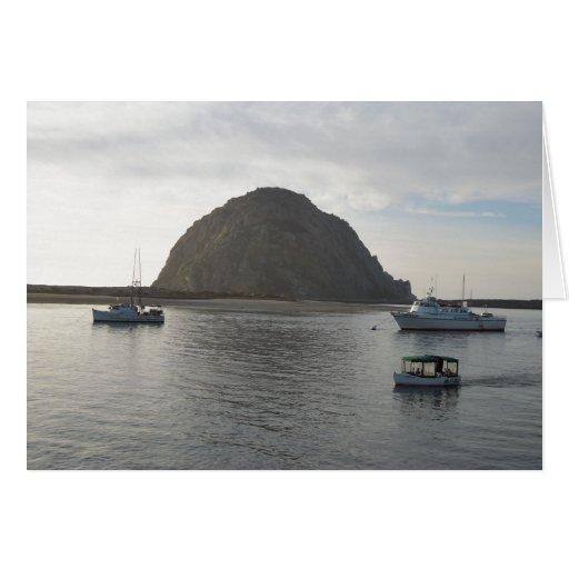 Morro Rock at Morro Bay, CA Card