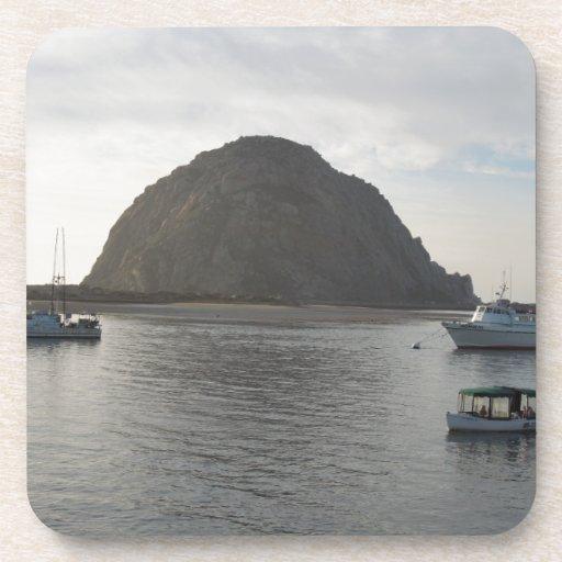 Morro Rock at Morro Bay, CA Drink Coaster