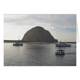Morro Rock at Morro Bay, CA Greeting Card