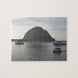 Morro Rock at Morro Bay, CA Jigsaw Puzzle