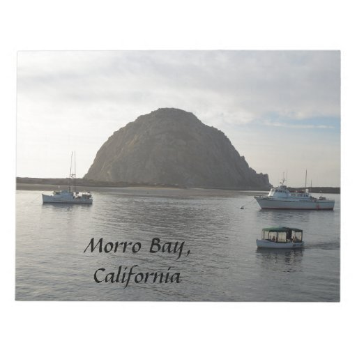 Morro Rock at Morro Bay, CA Memo Notepad